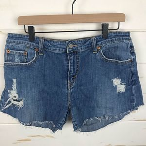 Levi's 515 Distressed Denim Shorts